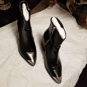 Steve Madden Preston ankle booties black leather w